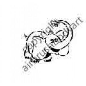 0271 elephant reusable stencil